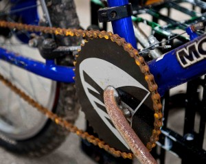 close up image of the sprocket